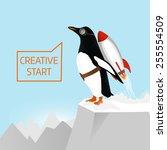 creative start and creative... | Shutterstock .eps vector #255554509