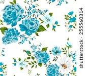 beautiful vintage seamless... | Shutterstock .eps vector #255560314