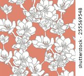 apple tree branch. seamless...   Shutterstock .eps vector #255569548