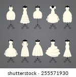 wedding dresses in different... | Shutterstock .eps vector #255571930