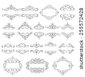 vector set   calligraphic... | Shutterstock .eps vector #255572428