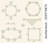 vector set of line design... | Shutterstock .eps vector #255574873