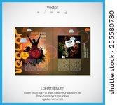 layout magazine  vector | Shutterstock .eps vector #255580780