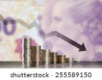 symbol of inflation and... | Shutterstock . vector #255589150