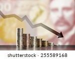 symbol of inflation and... | Shutterstock . vector #255589168