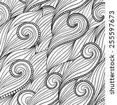 vintage vector seamless pattern ... | Shutterstock .eps vector #255597673