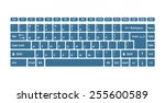 computer keyboards for using in ... | Shutterstock .eps vector #255600589
