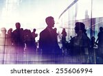 business people cityscape... | Shutterstock . vector #255606994