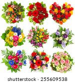 Bouquets Of Colorful Flowers...