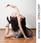 beautiful ballerina dancing on... | Shutterstock . vector #255611269