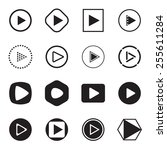 play button icons. vector...