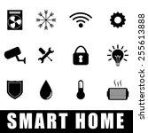 smart home design  vector... | Shutterstock .eps vector #255613888