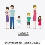 familiy  desing over white...   Shutterstock .eps vector #255625369