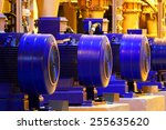 factory motor machine equipment.... | Shutterstock . vector #255635620