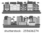landscape city industrial and...   Shutterstock .eps vector #255636274