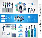 teamwork infographic set with... | Shutterstock .eps vector #255636370