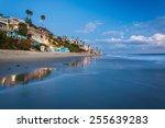 Beachfront Homes At Twilight ...