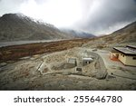 buddhist monastry in the indian ... | Shutterstock . vector #255646780