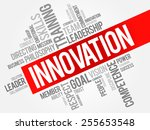 innovation word cloud  business ... | Shutterstock .eps vector #255653548