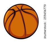 orange basletball on a white...   Shutterstock .eps vector #255656770