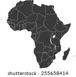 detailed vector map of the... | Shutterstock .eps vector #255658414
