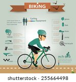 bike infographics.vector