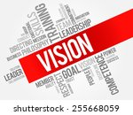 vision word cloud  business... | Shutterstock .eps vector #255668059