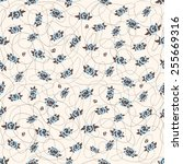abstract flower pattern | Shutterstock .eps vector #255669316