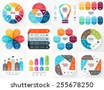 Vector infographics set. Collection of templates for cycle diagram, graph, presentation and round chart. Business concept with options, parts, steps or processes.  | Shutterstock vector #255678250