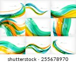 green orange yellow colors... | Shutterstock .eps vector #255678970