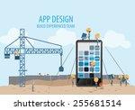 mobile app development ... | Shutterstock .eps vector #255681514