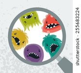 background with little angry... | Shutterstock .eps vector #255683224