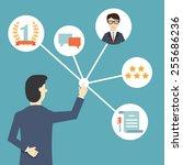 customer relationship...   Shutterstock .eps vector #255686236