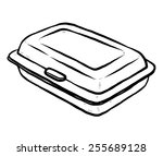 foam meal box   cartoon vector... | Shutterstock .eps vector #255689128