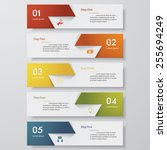 design clean number banners... | Shutterstock .eps vector #255694249