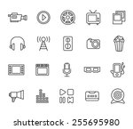 movie icon set | Shutterstock .eps vector #255695980