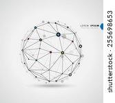 geometric circles molecular... | Shutterstock .eps vector #255698653