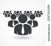 working together team concept.... | Shutterstock .eps vector #255701059