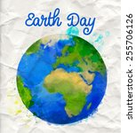 earth day poster with... | Shutterstock .eps vector #255706126