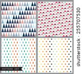vector set of four colorful... | Shutterstock .eps vector #255707530