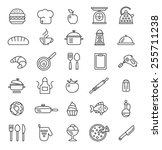cooking icons  vector symbols