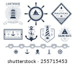 set of nautical logos  badges... | Shutterstock .eps vector #255715453