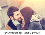 couple loving each other... | Shutterstock . vector #255719434