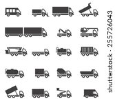 truck icons set. | Shutterstock .eps vector #255726043