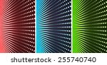 three different color led walls | Shutterstock . vector #255740740