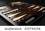 backgammon table game board | Shutterstock . vector #255744196