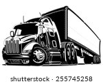 Cartoon Semi Truck. Available...