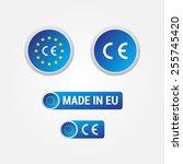 ce mark european union labels | Shutterstock .eps vector #255745420