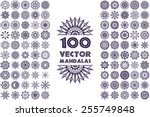 vector mandala collection.... | Shutterstock .eps vector #255749848