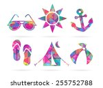 set of eps10 vector colorful... | Shutterstock .eps vector #255752788
